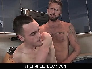 Hot Young Skinny Twink Step Son Sex With Step Dad In Family Kitchen 8:00 2020-02-14