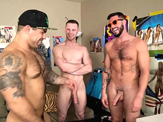 Brandon Evans Blaze Levine Rico Mendiola big cocks (gay) blowjob (gay) gays (gay)