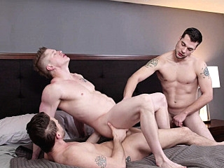 Twink stepbrother fucked in threesome anal sex bareback 6:00 2020-02-05