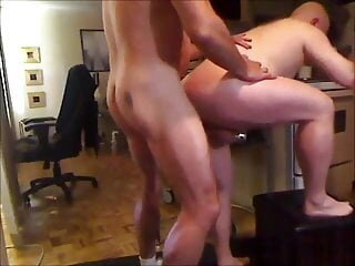 Troy of Toronto Does Peter Again: Hot Mature Bald RIM-BB-CUM amateur bareback bear