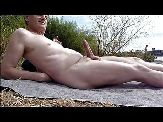Cumshot at beach for others watching beach big cock masturbation